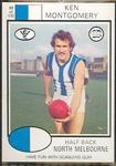 1975 Scanlens VFL Football Ken Montgomery trade card