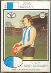 1975 Scanlens VFL Football John Rantall trade card
