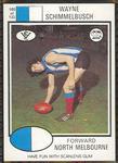 1975 Scanlens VFL Football Wayne Schimmelbusch trade card