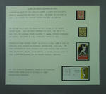 Stamp album page, early Australian cricket issues