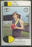 1975 Scanlens VFL Football Neil Balme trade card