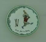 Ceramic saucer, 'Out for a duck'