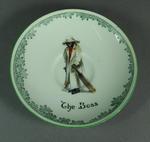 Ceramic saucer, 'The Boss'