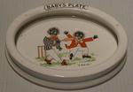 Plate, child's cricket design