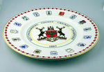 Ceramic plate, Nottinghamshire County Cricket Champions, 1987