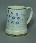 Ceramic mug with image of Somerset CCC team, 1978-79