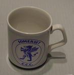 Ceramic mug with Somerset County Cricket Club design