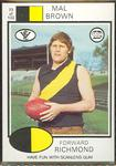 1975 Scanlens VFL Football Mal Brown trade card