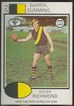1975 Scanlens VFL Football Darryl Cumming trade card
