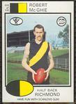 1975 Scanlens VFL Football Robert McGhie trade card