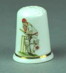 Thimble, image of cricketer batting