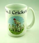 """Mug, """"No. 1 Cricketer"""""""