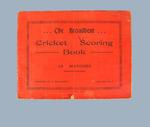 The Broadbent Cricket Score Book, c1931
