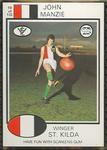 1975 Scanlens VFL Football John Manzie trade card