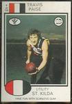 1975 Scanlens VFL Football Travis Paise trade card
