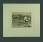 """Print, """"Practising for the All England Match"""" - 1874"""