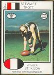 1975 Scanlens VFL Football Stewart Trott trade card