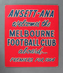 Sign, Ansett-ANA welcomes Melbourne Football Club - 1964