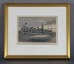 """Print, """"THE NEW GRAND STAND, MELBOURNE CRICKET GROUND"""" - 1877"""