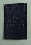 Programme of Australian XI matches, issued to F Spofforth c1890-95