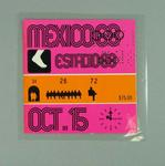 Ticket - Admission to Athletics, 1968 Mexico Olympic Games, 15 October 1968