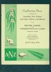 Menu, Welcome Dinner for Australian, New Zealand & Fijian Athletes - 19 July 1954