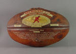 Football with hand-painted decoration - 1955 VFL Grand Final  won by the Melbourne Football Club