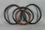 Group of four pneumatic bicycle tyres, c. 1895