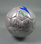 Soccer ball, signed by Rod Stewart