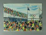 Painting, depicts 1956 Olympic Games Village