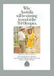 """Flyer - Australian Team Uniform 1984 Olympic Games - """"Winning in Wool"""""""