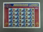 Postage stamp sheet - AFL Footy Stamps 2003 - Brisbane Lions Football Club