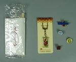 Souvenirs from various Olympic Games and sporting events, badges, key chain etc.