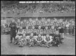 Glass negative, image of Hawthorn Football Club team - 1959