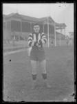 Glass negative, image of Collingwood Football Club player - Laurie Rymer