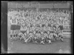 Glass negative, image of Collingwood Football Club team