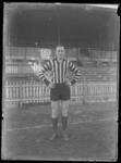 Glass negative, image of unknown footballer