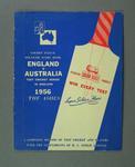 Scorebook, England v Australia Test series 1956