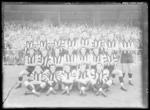 Glass negative, image of Collingwood Football Club team - 1958