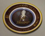 Plate inscribed 'To Commemorate the Bob Taylor Testimonial Year' with image & signature