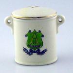 Lid for the small ceramic box:  Hambledon Hants, The Cradle of Cricket