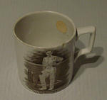 Mug, images of R H Spooner & G E Tyldesley