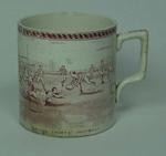 Mug, cricket and football scenes