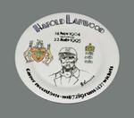 Harold Larwood Career Record plate 1924-1938,  painted by Deborah Morley