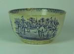 Staffordshire ceramic bowl with cricket scenes