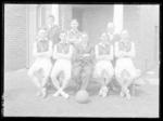 Glass negative, image of sporting team