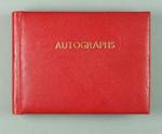 Autograph book, c1950s