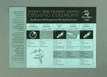 Instruction card, Sydney 2000 Olympic Games Opening Ceremony audience kit