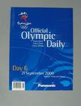 Programme, Sydney 2000 Olympic Games - Day 6