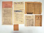 Various documents associated with Fitzroy Cricket Club, c1920s-50s